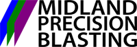 Midland Precision Blasting Logo